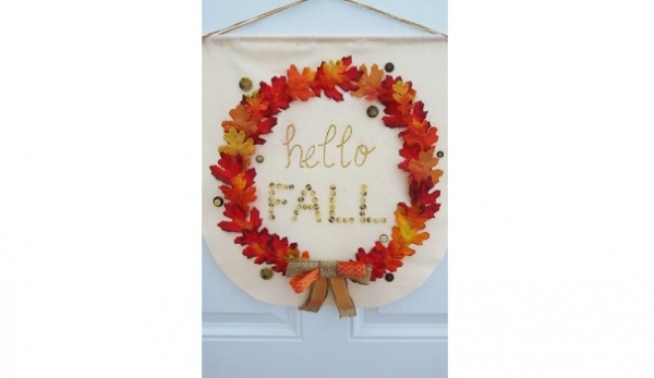Tutorial: No-sew fall wreath banner