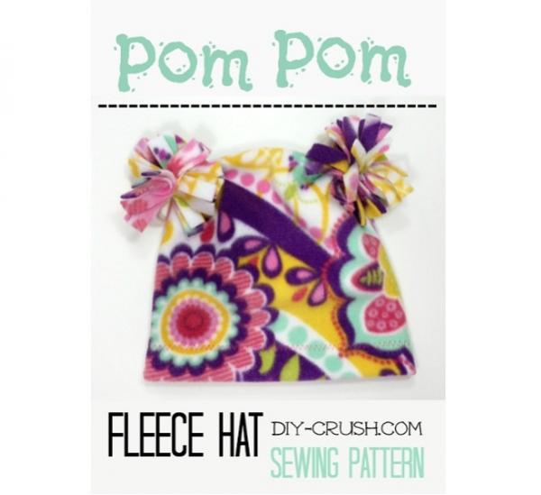 Tutorial: Pom pom fleece hat for kids