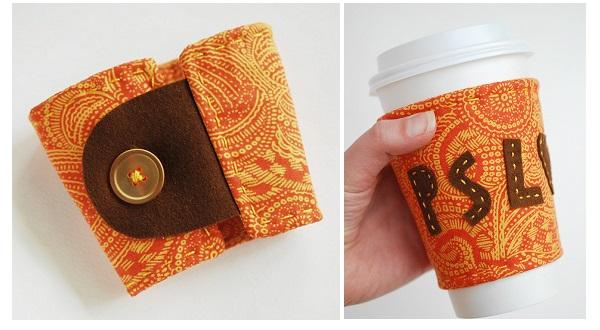 Tutorial: Pumpkin spice latte coffee cozy