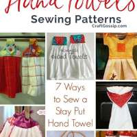 7 Ways to Sew a Stay Put Hand Towel For The Kitchen