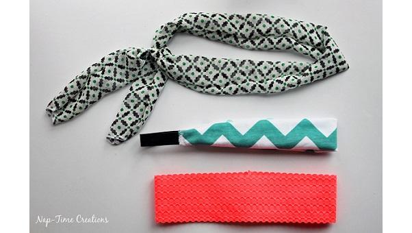Tutorial: Easy fabric headbands 3 ways