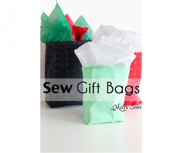 Tutorial: Sew reusable fabric gift bags