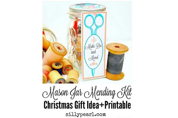 Tutorial: Mason jar sewing kit