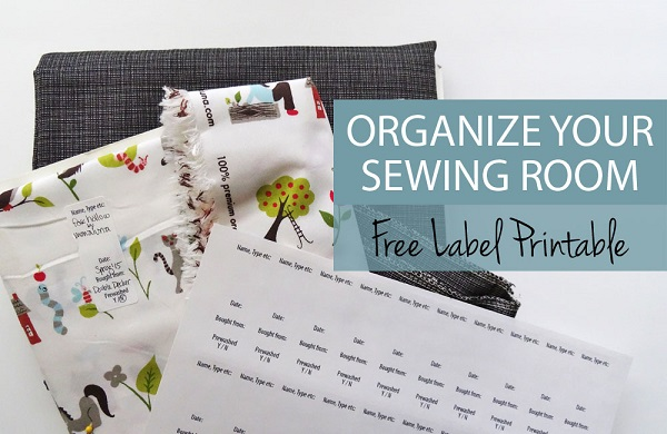 Freebie: Printable labels for your fabric stash