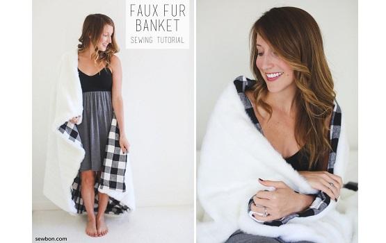 Tutorial: Faux fur blanket