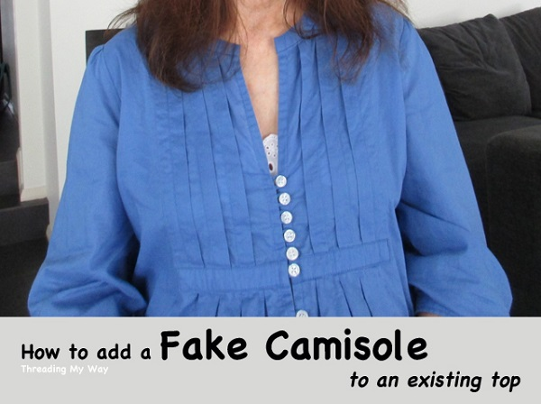 Tutorial: Add a faux camisole layer to fix a low a neck line