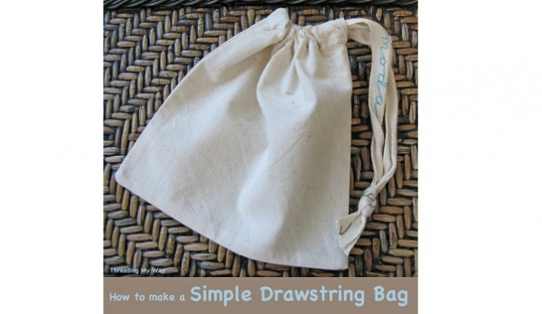 Tutorial: Simple drawstring bag