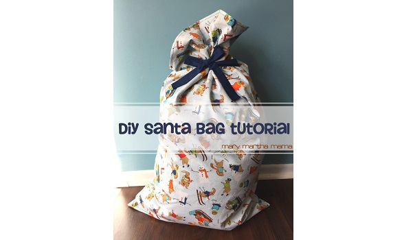 Tutorial: Large fabric Santa bag to hold presents