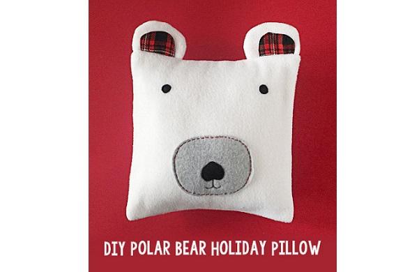 Tutorial: Polar bear holiday pillow