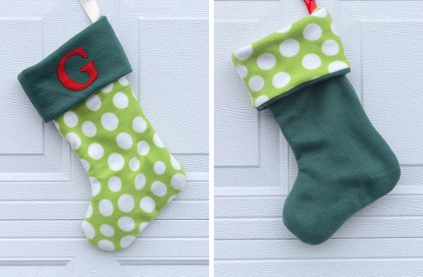 Tutorial: Easy reversible Christmas stockings
