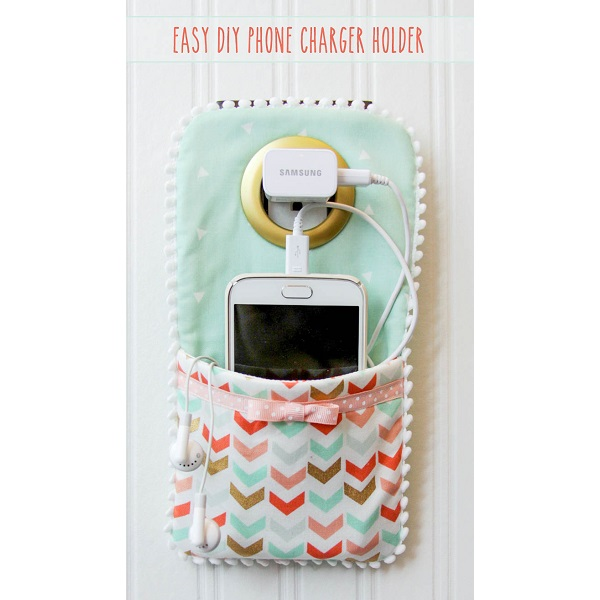 Tutorial Easy Phone Charger Holder Sewing