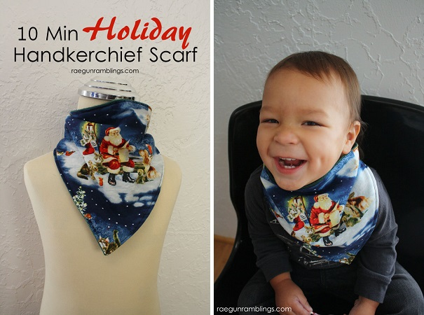 Tutorial: Kids' handkerchief neck scarf
