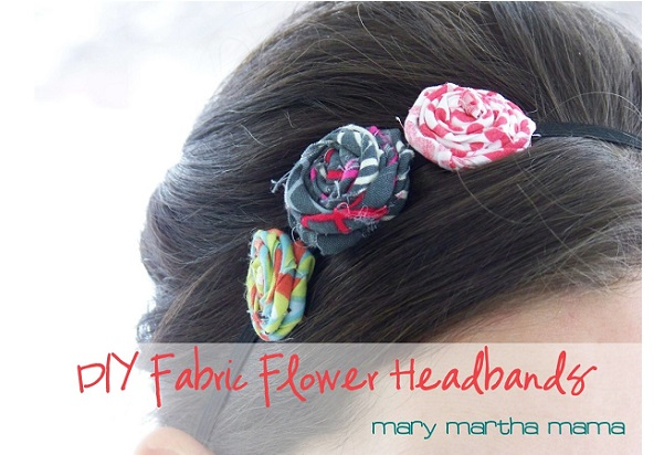 Tutorial: No-sew rolled fabric flower headband
