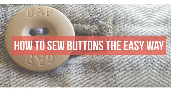 Tutorial: The easy way to sew on a button