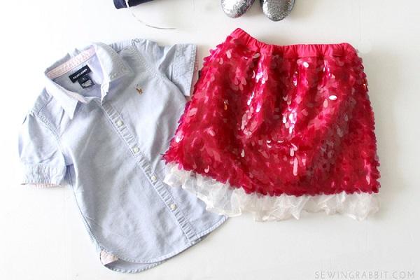 Tutorial: Little girls sequin skirt