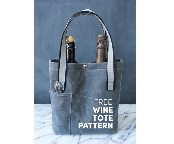 Free pattern: Sturdy wine tote