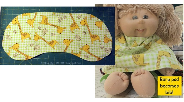 Free pattern: Burp cloth that becomes a bib