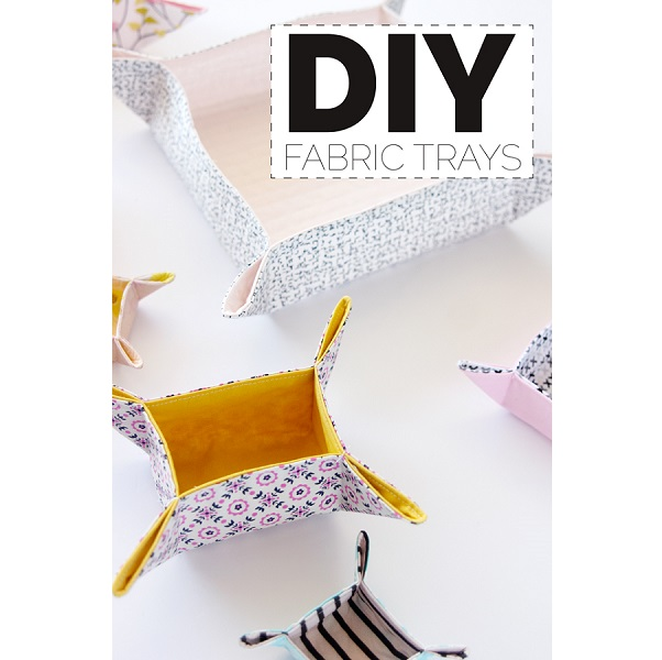 Tutorial: Containerize your clutter with DIY fabric trays