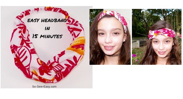 Tutorial: 15-minute fabric headband