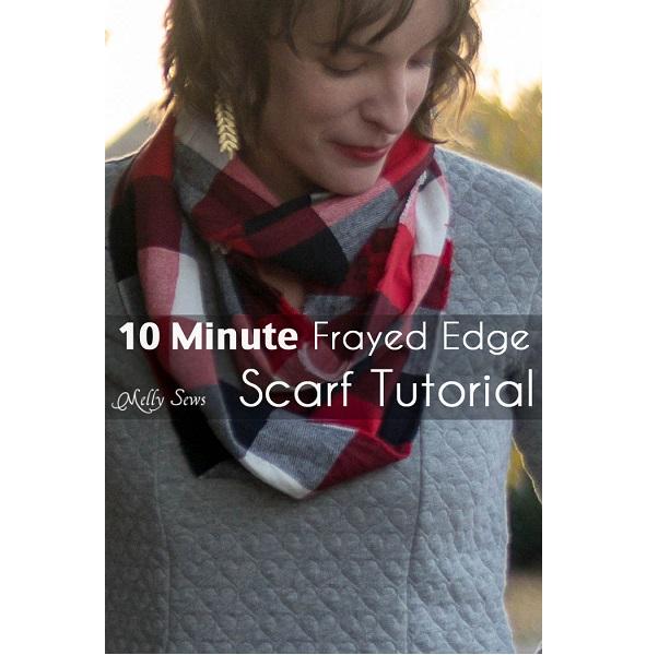 Tutorial: Frayed edge infinity scarf