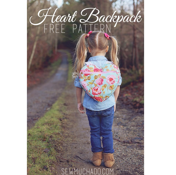 Free pattern: Heart backpack