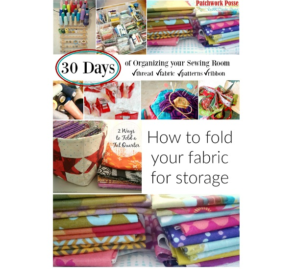 Tutorial: How to fold your fabric stash