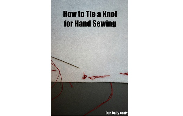 Tutorial: How to knot your thread for hand sewing