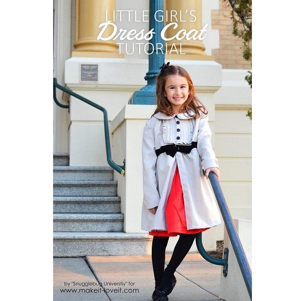 Tutorial: Girls dress coat