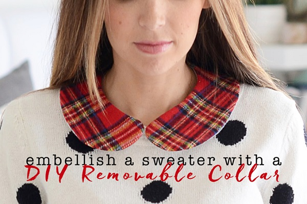 Tutorial: Removable collar to dress up a plain sweater