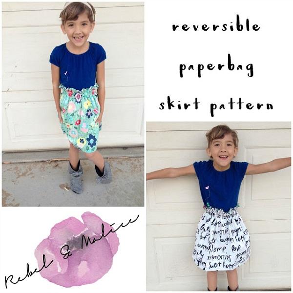 Tutorial: 1-hour reversible paper bag skirt for girls