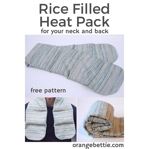 Free pattern: Rice filled heat pack for your neck and back