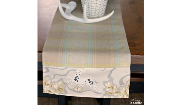 Tutorial: Table runner with contrast ends