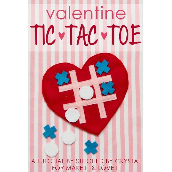 Tutorial: Felt Valentine Tic-Tac-Toe Game