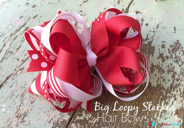 Tutorial: Big Loopy Stacked Hair Bow
