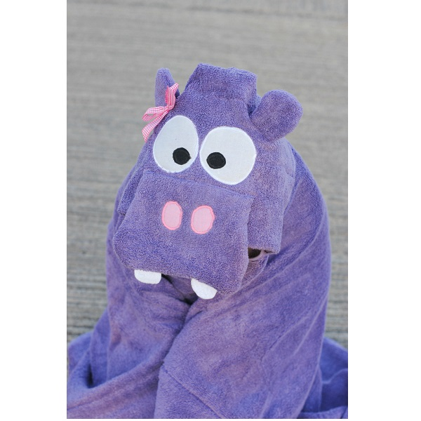 Free pattern: Hippo hooded towel