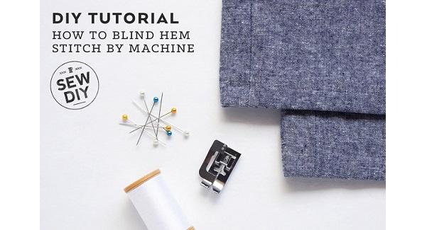 Tutorial: Blind hem stitch on your sewing machine