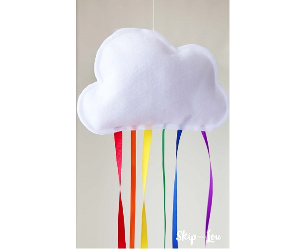Tutorial: Hanging rainbow cloud kids can sew