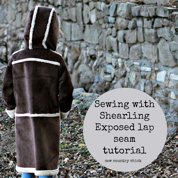 Tutorial: Faux shearling lapped seams