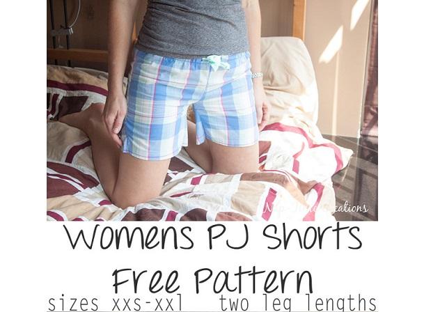 Free pattern: Women's pajama shorts