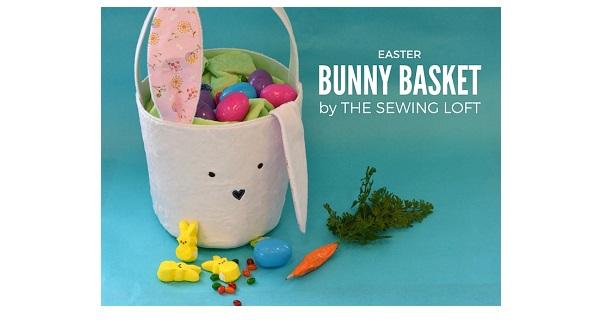 Free pattern: Easter bunny bucket basket