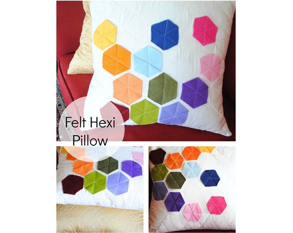 Tutorial: Felt hexi pillow cover – Sewing