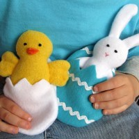 Free pattern: Chick and bunny Spring Friends softies