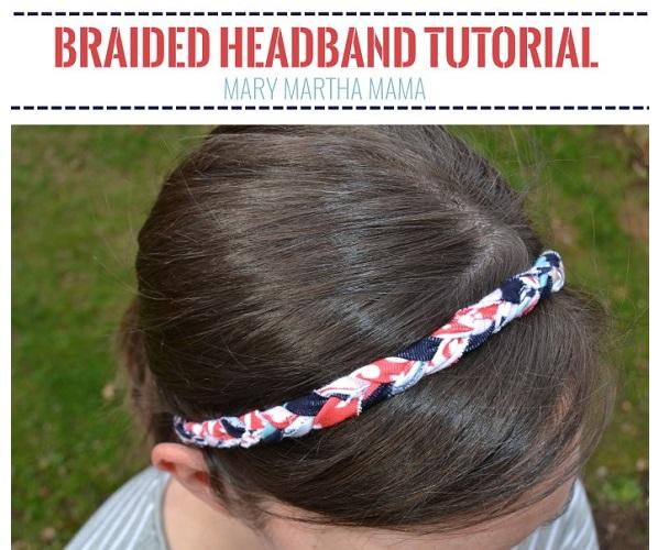 Tutorial: Braided knit fabric headband