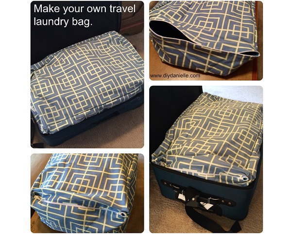 Tutorial: Travel laundry bag made to fit your suitcase