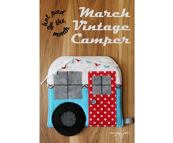 Free pattern: Vintage camper hot pad – Sewing