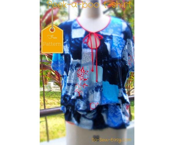 Free pattern: Peek-a-boo t-shirt