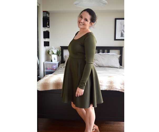 Tutorial: Long sleeve skater dress