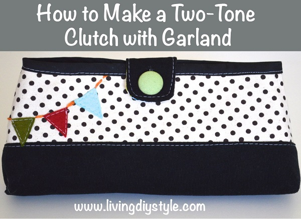 Tutorial: Clutch purse with a bunting applique