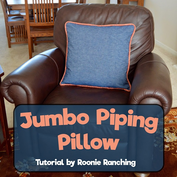 Tutorial: Jumbo piping throw pillow ? Sewing