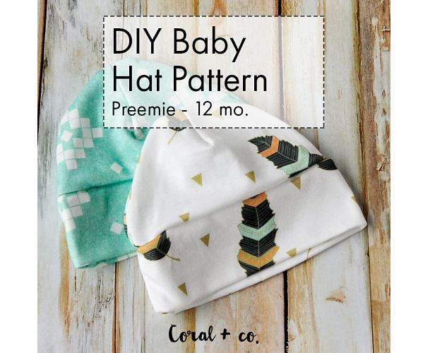 Tutorial: Easy baby hat from knit fabric